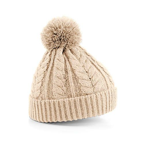 Cable Knit Snowstar® Beanie [One Size] (Oatmeal) (Art.-Nr. CA158071)
