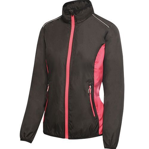 Womens Athens Tracksuit Jacket [34 (8)] (black / hot pink) (Art.-Nr. CA162337)