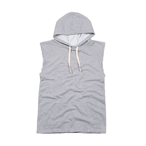 Women´s Oversized Sleeveless Hoodie [S] (heather grey Melange) (Art.-Nr. CA167801)