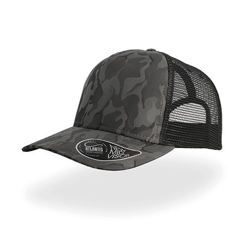 Rapper Camou Cap [One Size] (dark grey / black) (Art.-Nr. CA170981)