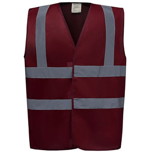 High Visibility 2 Bands & Braces Waistcoat [3XL] (Maroon) (Art.-Nr. CA176730)