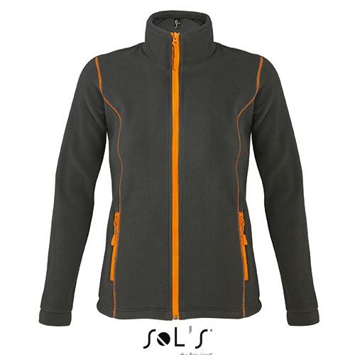 Micro Fleece Zipped Jacket Nova Women [XXL] (charcoal grey (Solid) / orange) (Art.-Nr. CA223565)