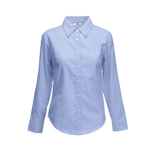 Fruit of the Loom Long Sleeve Oxford Shirt Lady-Fit [S] (Oxford Blue) (Art.-Nr. CA236998)