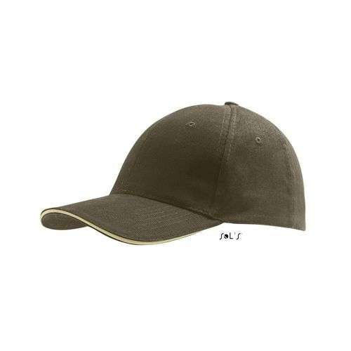 Six Panel Cap Buffalo [One Size] (army / beige) (Art.-Nr. CA237188)
