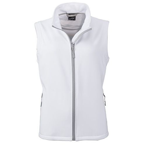 Ladies` Promo Softshell Vest [M] (Art.-Nr. CA242701) - Angenehmes, weiches, 2-lagiges Softshell...