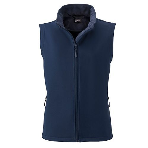 Ladies` Promo Softshell Vest [S] (Art.-Nr. CA257161) - Angenehmes, weiches, 2-lagiges Softshell...