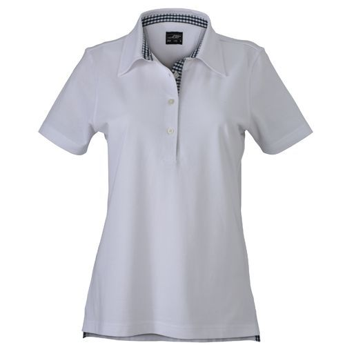 Ladies´ Plain Polo [M] (white / navy / white) (Art.-Nr. CA257656)