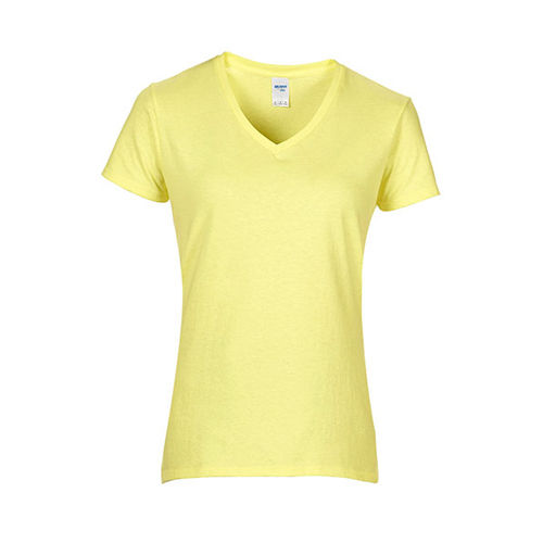 Premium Cotton® Ladies´ V-Neck T-Shirt [S] (Cornsilk) (Art.-Nr. CA258711)