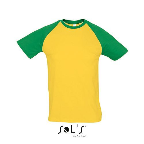 Raglan T-Shirt Funky 150 [M] (gold / Kelly green) (Art.-Nr. CA264070)