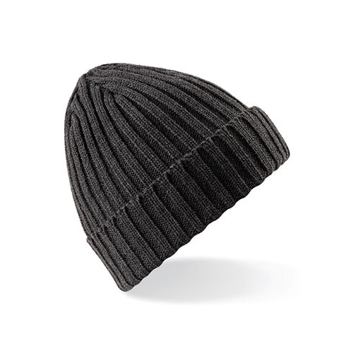 Chunky Ribbed Beanie [One Size] (charcoal) (Art.-Nr. CA271193)