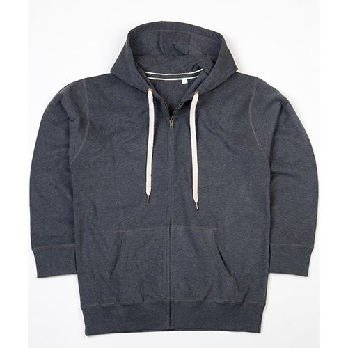 Men`s Superstar Zip-Through Hoodie [L] (Charcoal Grey Melange) (Art.-Nr. CA274436)