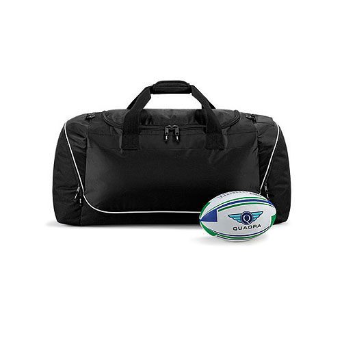 Teamwear Jumbo Kit Bag [85 x 38 x 35 cm] (black / lightgrey) (Art.-Nr. CA294711)