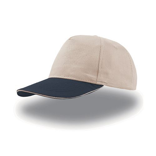 Start Five Sandwich Cap [One Size] (natural / navy) (Art.-Nr. CA303795)