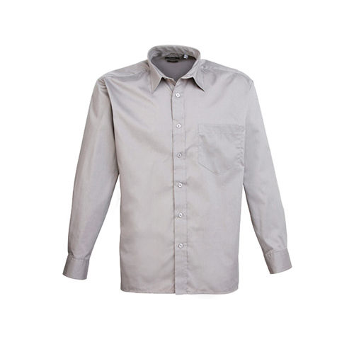Poplin Long Sleeve Shirt (Herrenhemd/Langarm) [39,5 (15H)] (silver) (Art.-Nr. CA305529)