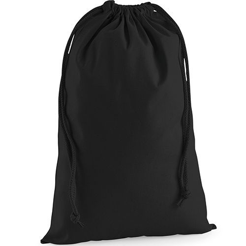 Premium Cotton Stuff Bag [XL (49,5 x 75 cm)] (black) (Art.-Nr. CA312713)