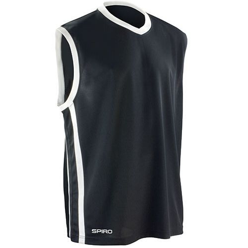 Basketball Mens Quick Dry Top [XS] (black / white) (Art.-Nr. CA341437)