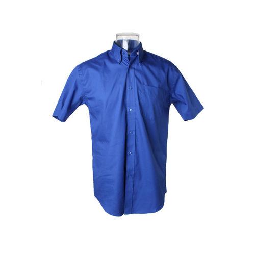 Men´s Corporate Oxford Shirt Short Sleeve [39/40 (M/15H)] (royal) (Art.-Nr. CA341933)