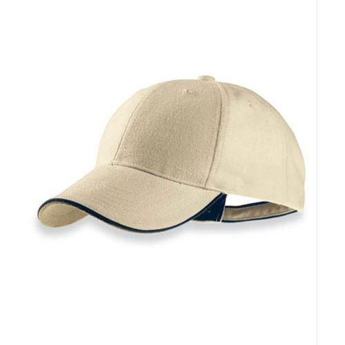 Pilot Piping Sandwich Cap [One Size] (Natural / navy / Natural) (Art.-Nr. CA347660)