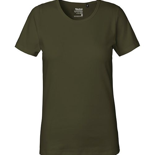 Ladies Interlock T-Shirt [XS] (Military) (Art.-Nr. CA382900)