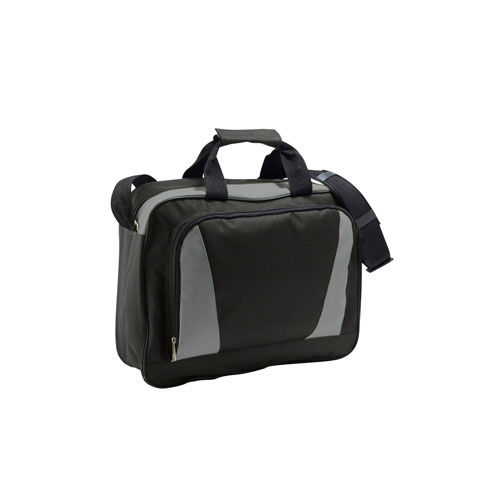 Businessbag Cambridge [40 x 31 x 11 cm] (black / orange) (Art.-Nr. CA388484)