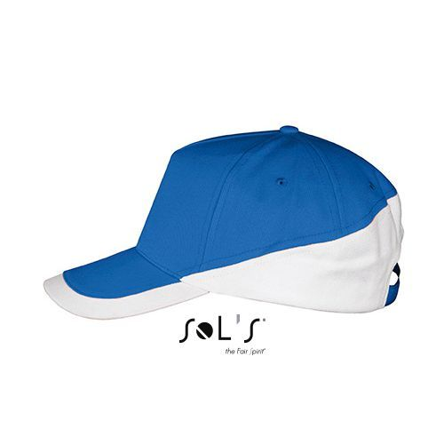5 Panels Contrasted Cap Booster [One Size] (royal blue / white) (Art.-Nr. CA391706)