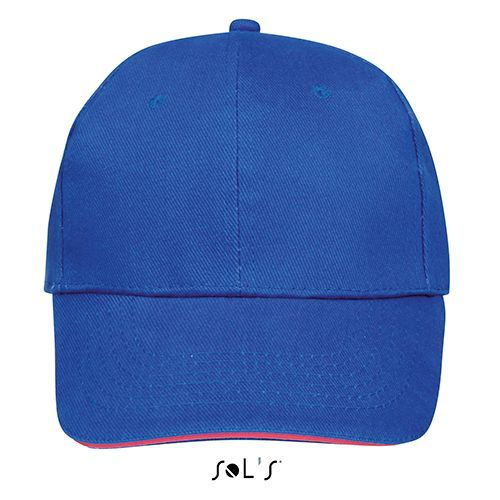 Six Panel Cap Buffalo [One Size] (Royal blue / neon Coral) (Art.-Nr. CA400198)