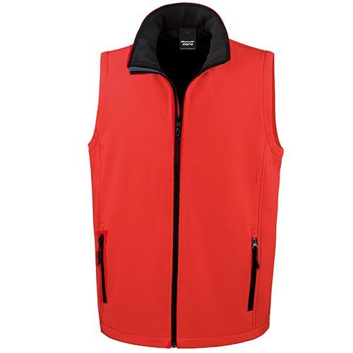 Printable Soft Shell Bodywarmer [M] (Red/Black) (Art.-Nr. CA423254)