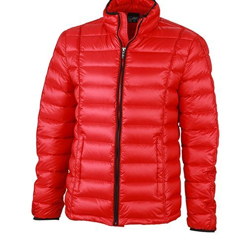 Mens Quilted Down Jacket [XL] (Red/Black) (Art.-Nr. CA444530)