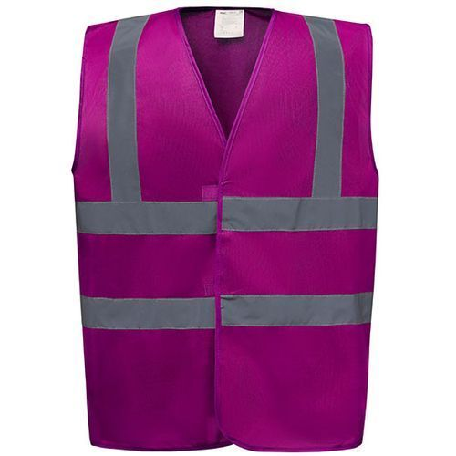 High Visibility 2 Bands & Braces Waistcoat [M] (Raspberry) (Art.-Nr. CA444693)