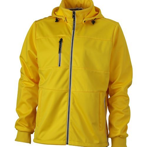 Men´s Maritime Softshell-Jacket [M] (Sun Yellow / navy / white) (Art.-Nr. CA462317)