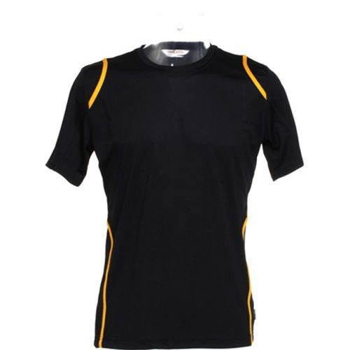 Men´s T-Shirt Short Sleeve [L] (black / gold) (Art.-Nr. CA475939)