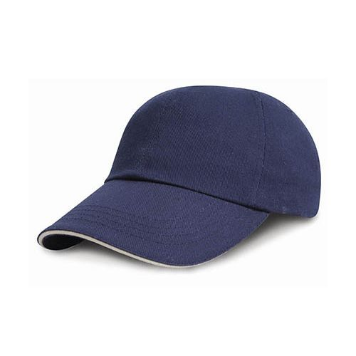 Junior Heavy Brushed Cotton Cap [One Size] (navy / white) (Art.-Nr. CA476749)