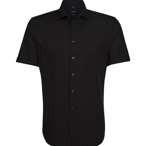 Mens Shirt Tailored Fit Shortsleeve [43] (black) (Art.-Nr. CA490027)