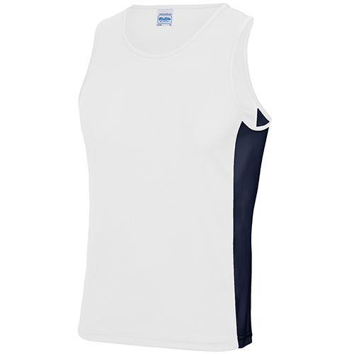 Mens Cool Contrast Vest [XXL] (Arctic white / french navy) (Art.-Nr. CA501614)
