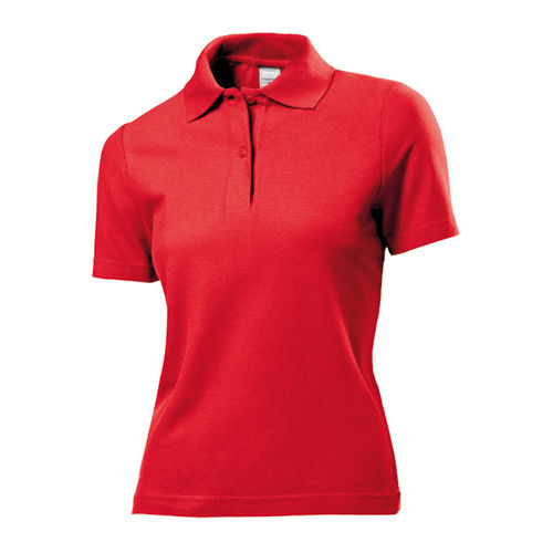 Short Sleeve Polo for women [XL] (Scarlet red) (Art.-Nr. CA543036)