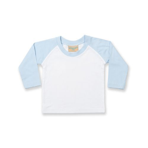 Long Sleeved Baseball T Shirt [0/6 Month] (white) (Art.-Nr. CA562227)