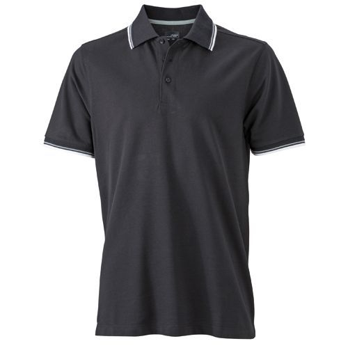 Men´s Coldblack® Polo [XXL] (black / white / grey) (Art.-Nr. CA574026)