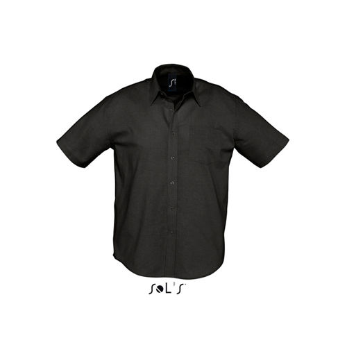 Herren Oxford-Kurzarmhemd Brisbane [XL] (Black) (Art.-Nr. CA601962)