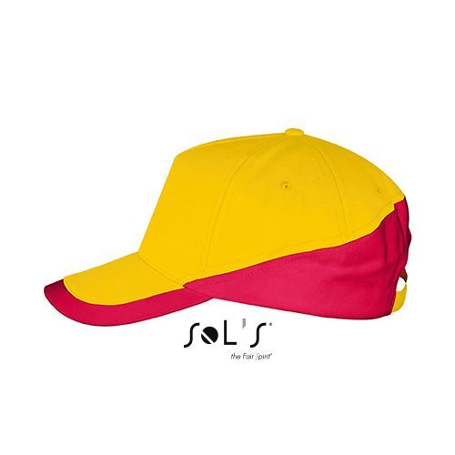 5 Panels Contrasted Cap Booster [One Size] (gold / red) (Art.-Nr. CA603320)