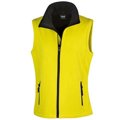 Ladies` Printable Soft Shell Bodywarmer [M] (Yellow) (Art.-Nr. CA616221)