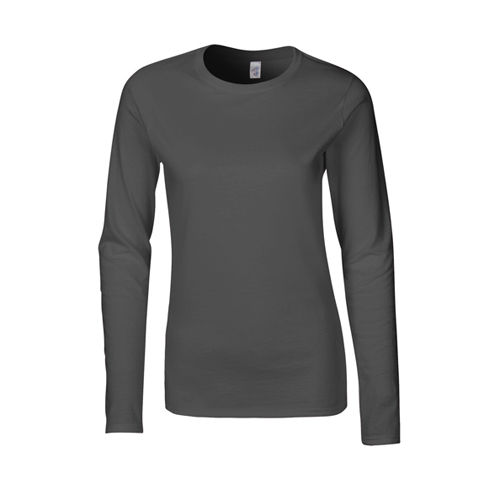 Softstyle® Ladies´ Long Sleeve T-Shirt [L] (charcoal (Solid)) (Art.-Nr. CA635302)