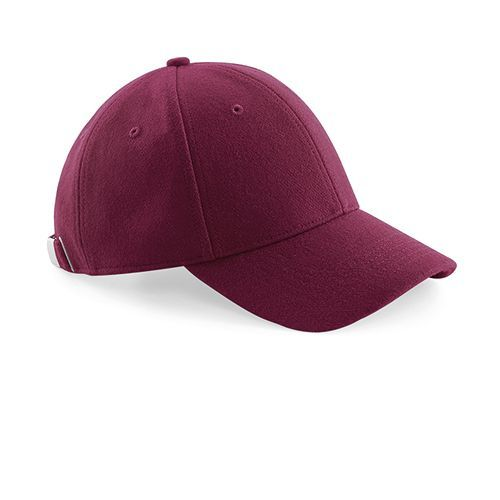 Melton Wool 6 Panel Cap [One Size] (burgundy) (Art.-Nr. CA636131)