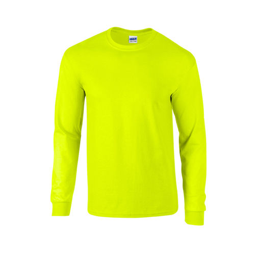 Ultra Cotton™ Long Sleeve T- Shirt [L] (Safety green) (Art.-Nr. CA641038)