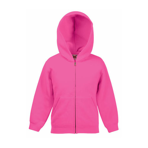 Classic Hooded Sweat Jacket Kids [164] (fuchsia) (Art.-Nr. CA642981)