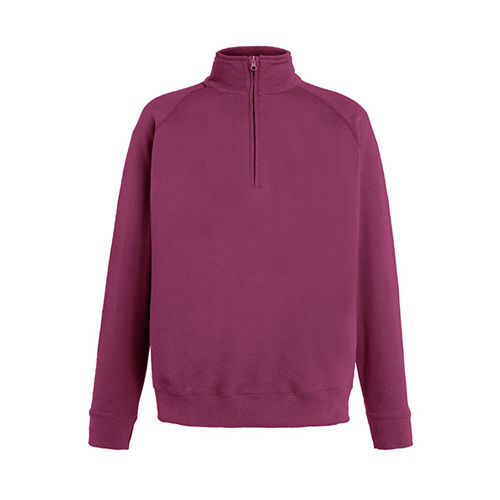 New Lightweight Zip Neck Sweat [XL] (burgundy) (Art.-Nr. CA645163)
