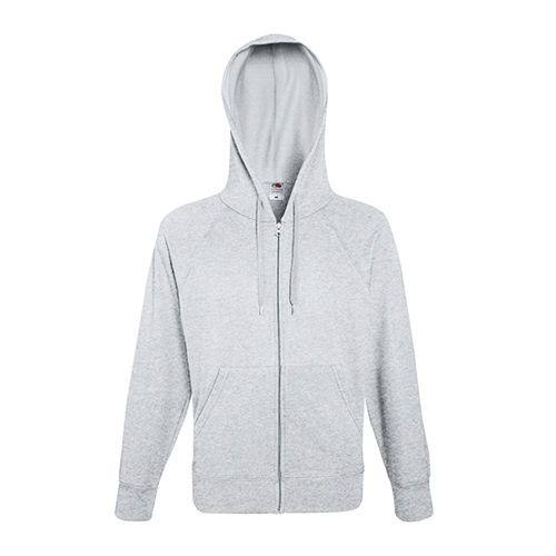 Lightweight Hooded Sweat Jacket [S] (heather grey) (Art.-Nr. CA647146)