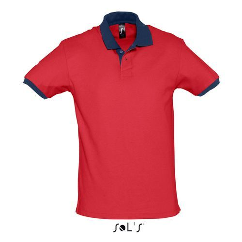 Polo Prince [M] (red / french navy) (Art.-Nr. CA658279)