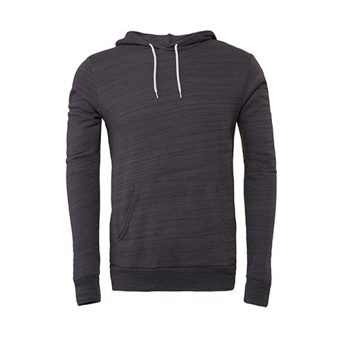 Unisex Pullover Poly-Cotton Fleece Hoodie [S] (Marble dark grey (heather)) (Art.-Nr. CA715610)
