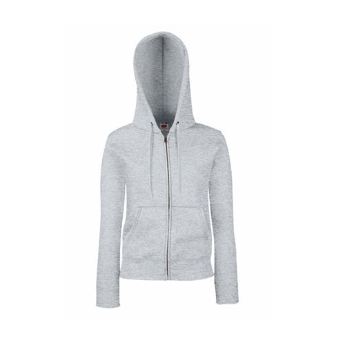 Premium Hooded Sweat Jacket Lady-Fit [XL] (heather grey) (Art.-Nr. CA721760)