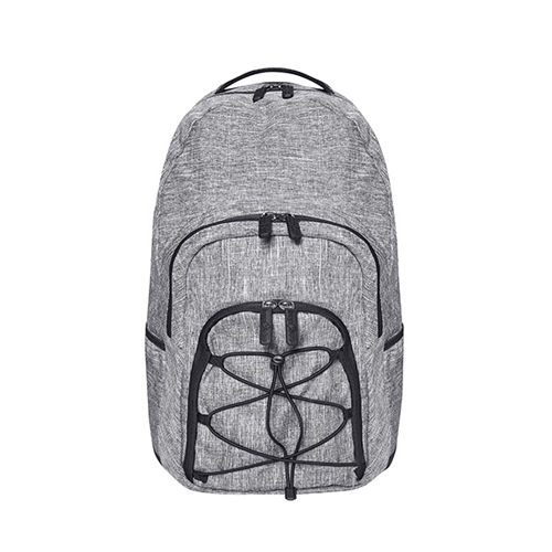 Outdoor Backpack - Rocky Mountains [52 x 32 x 17 cm] (Art.-Nr. CA753929) - 600D Polyester Rucksack in Grey Melange...